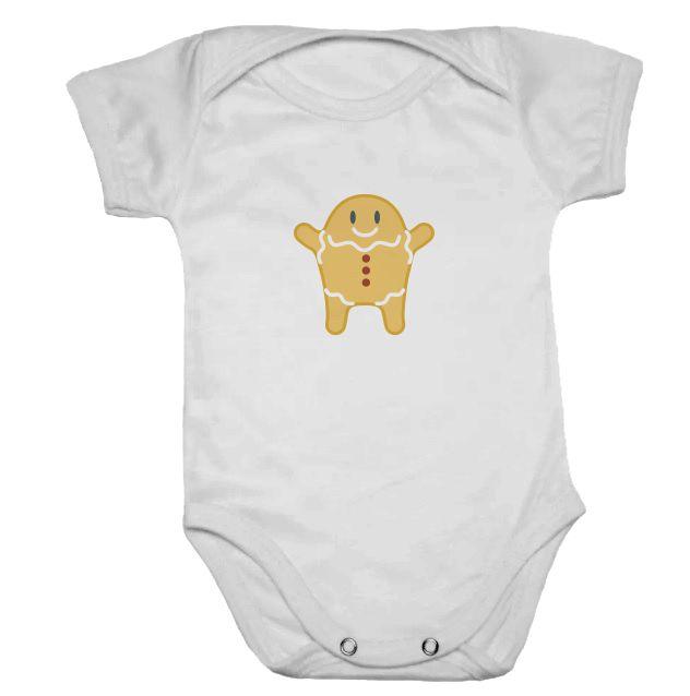 Body de Bebê Branco Manga Curta Biscoitinho