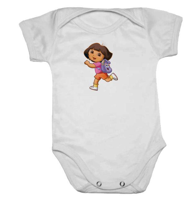 Body de Bebê Branco Manga Curta Dora