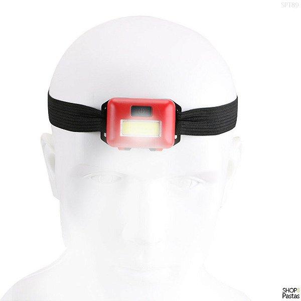 Lanterna de Cabeça Led Ajustável e Alerta - SPT89VER