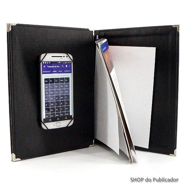 Case para Smartphone - Apostila e Revista - Preto