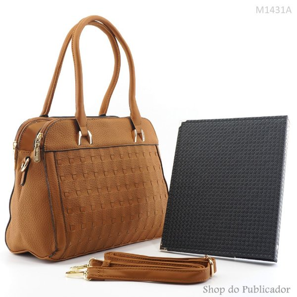 Conjunto - Bolsa Feminina e Pasta para publicações - M1431A