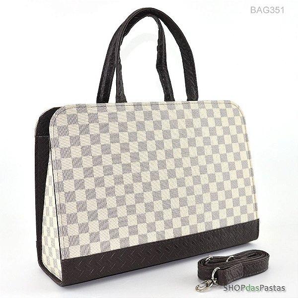 Bolsa Feminina Bag LV Xadrez Bege - BAG351