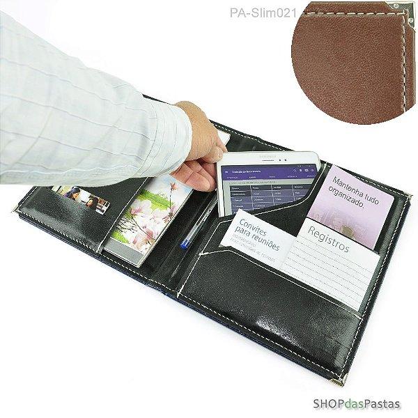 Pasta Slim para Publicações e Tablet - Marrom - PA-Slim021