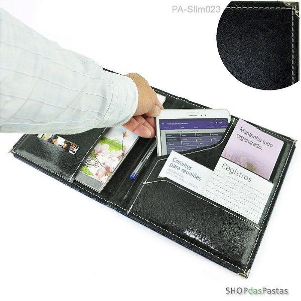Pasta Slim para Publicações e Tablet - Preto - PA-Slim023