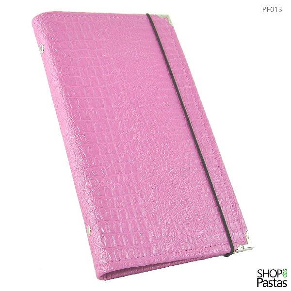Porta Folhetos JW - Croco Pink PF013