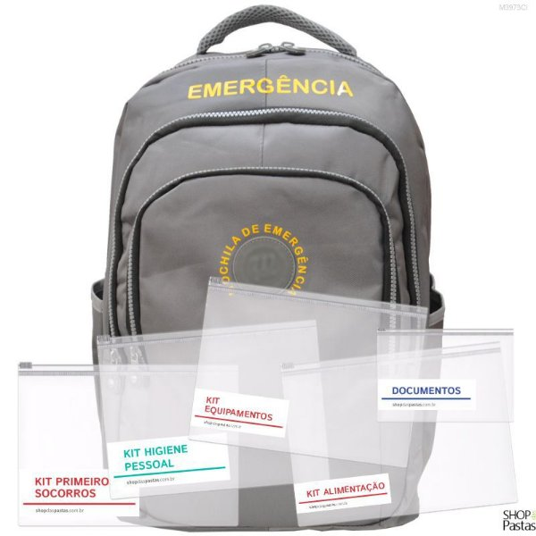 Mochila de Emergência Conjunto Básico 001CI