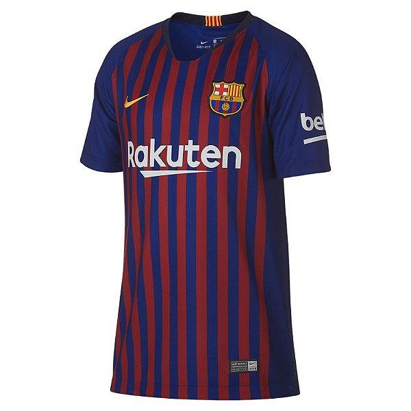 Camisa do Barcelona  2018/2019 Masculina/Feminina Editavel