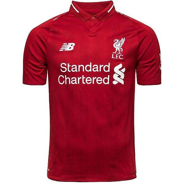 Camisa do Liverpool 2018/2019 Masculina/Feminina Editavel