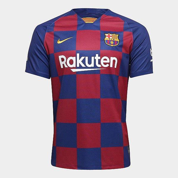 Camisa do Barcelona 2020 Masculina/Feminina Editável