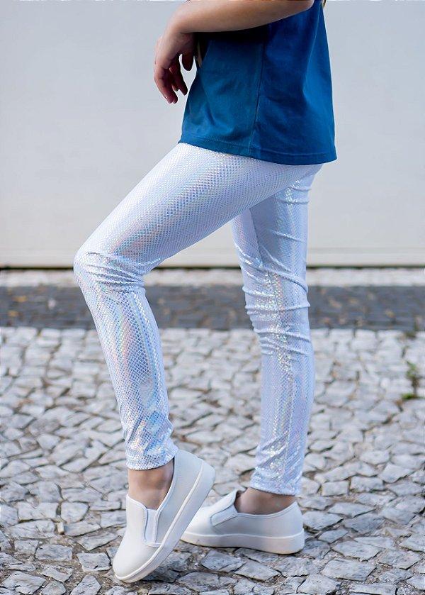 Legging Infantil Branca Layser