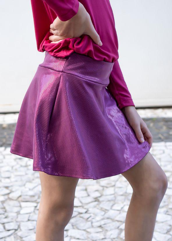 Shorts Saia  Vinho Brilhante