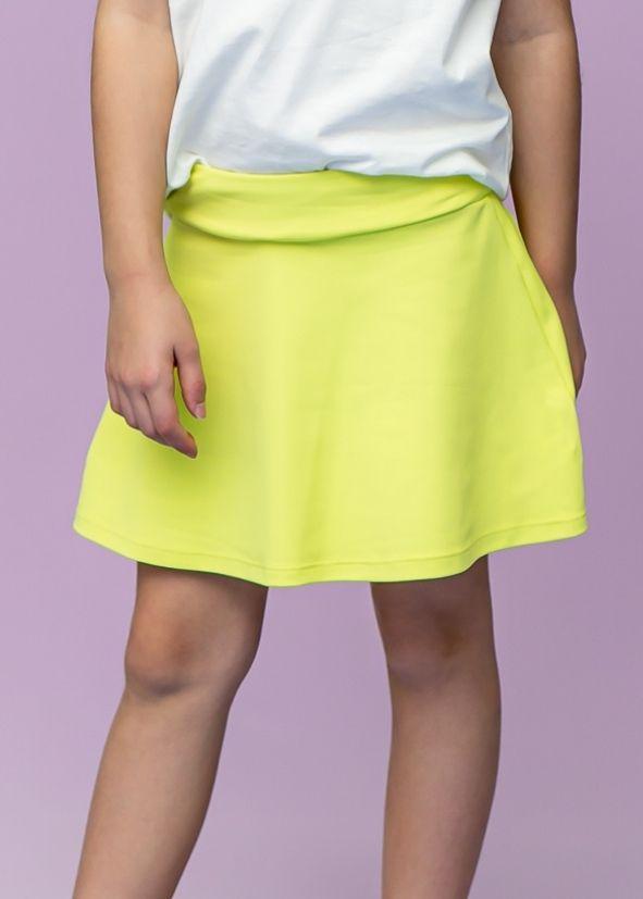 Shorts Saia Amarelo Candy Infantil