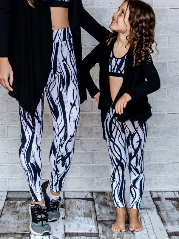 Legging Infantil Black and White
