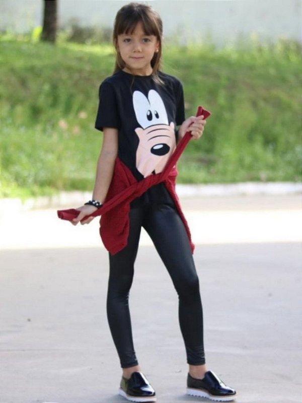 Legging Infantil Black Brilhante