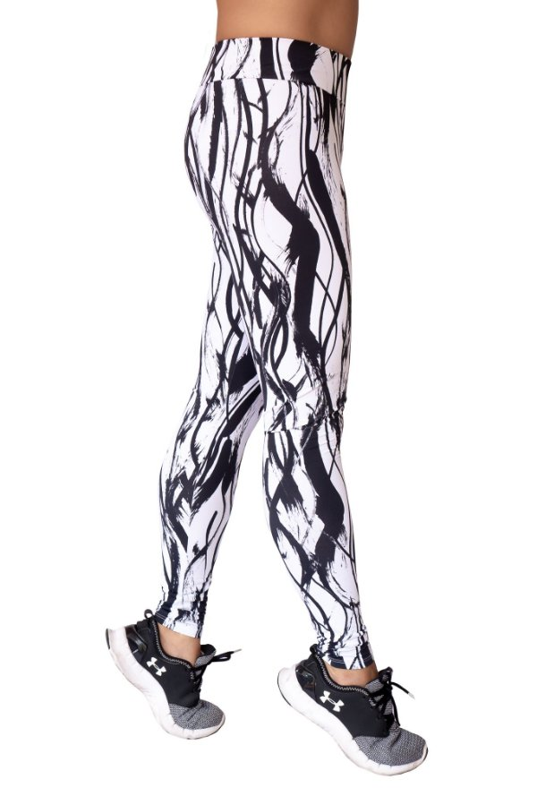 Legging Adulto Black and White
