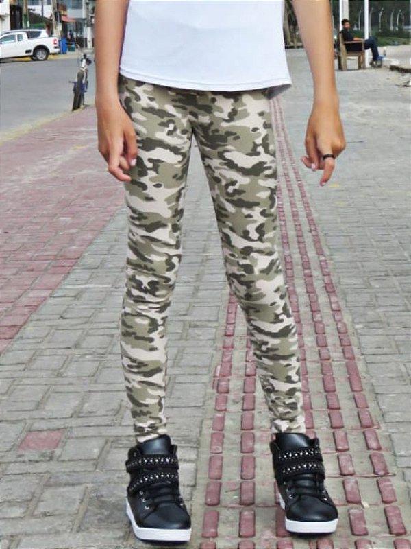 Legging Infantil Camuflada Militar