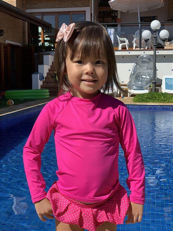 T-shirt Pink com Proteção Solar Bebê e Infantil