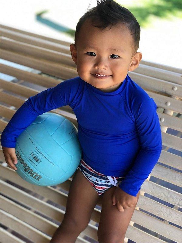 T-shirt Blue com Proteção Solar Bebê e Infantil