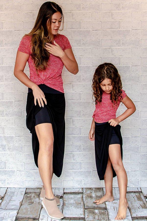 Saia Shorts Midi Preta Infantil