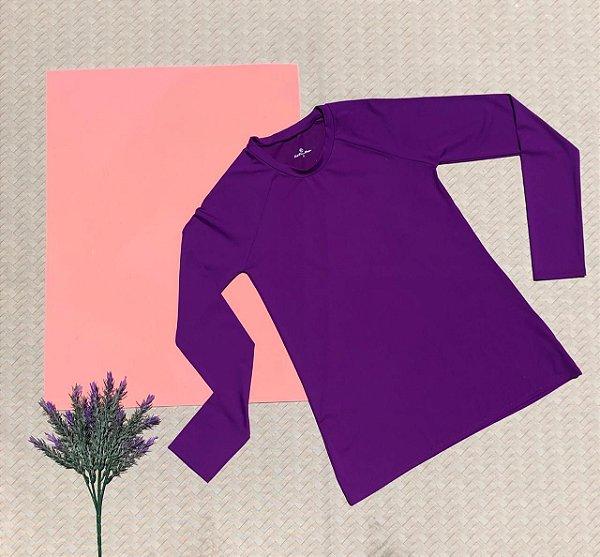 T-shirt Purple com Proteção Solar Adulto
