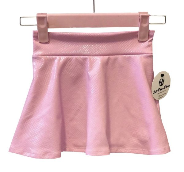 Shorts Saia Rosa Bebê Brilhante