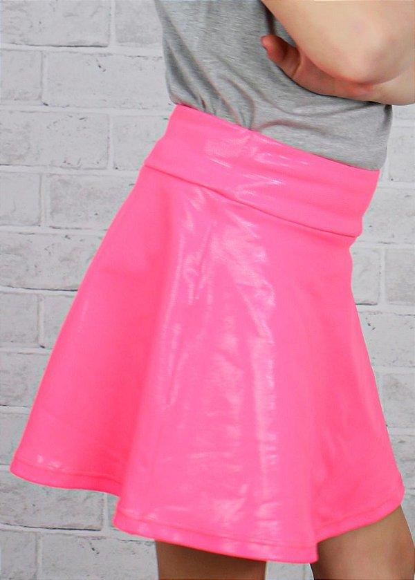 Shorts Saia Rosa Pink Brilhante