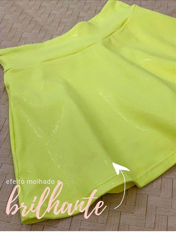 Shorts Saia Amarelo Neon Brilhante