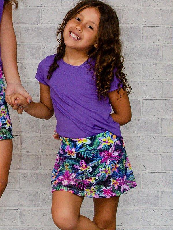 Shorts Saia Infantil Tela Hawaí