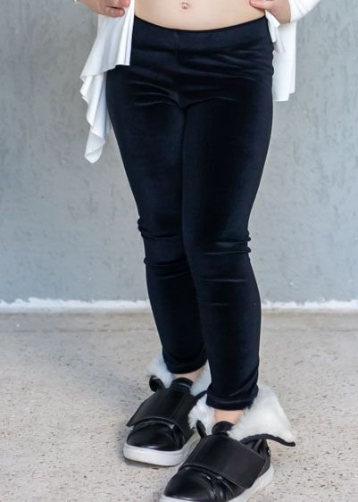 Legging Infantil Veludo Preta