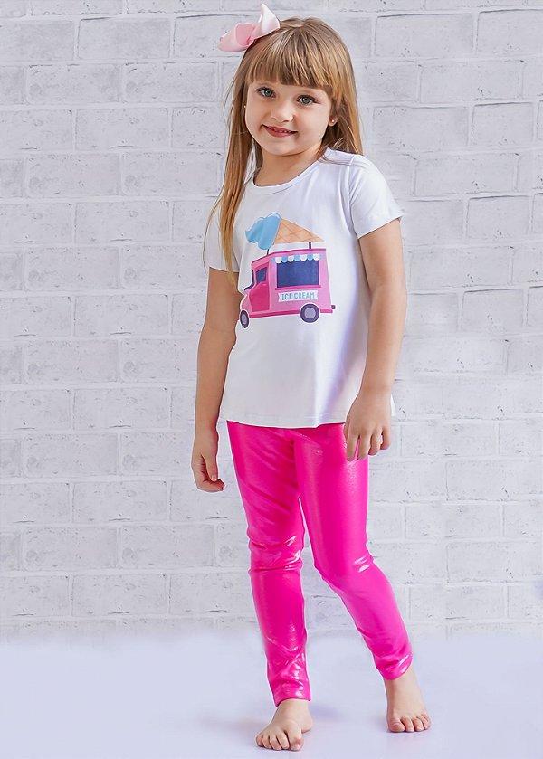 Legging Infantil Barbie Brilhante