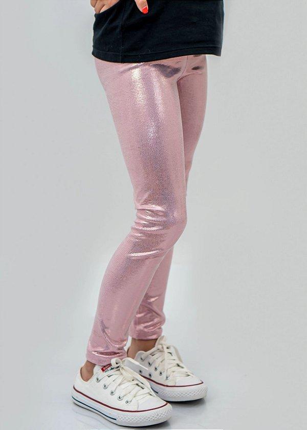 Legging Infantil Rosa Metal