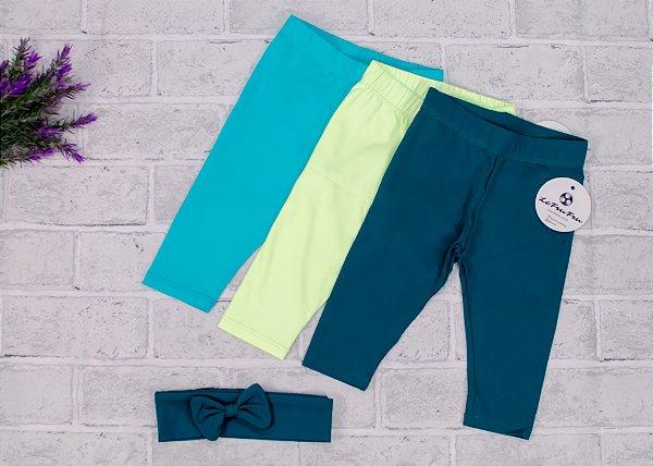 Kit Legging Baby Shades of Green