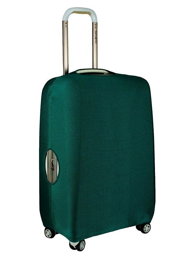 Capa Protetora Para Mala Verde com Textura