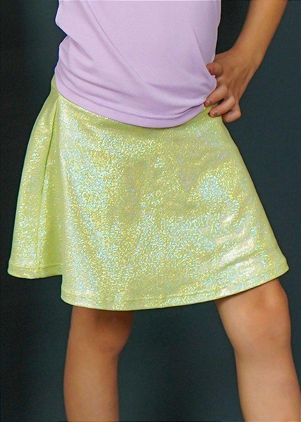 Shorts Saia Infantil Mint Com Brilho