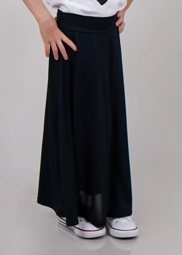 Saia Shorts Infantil Midi Black