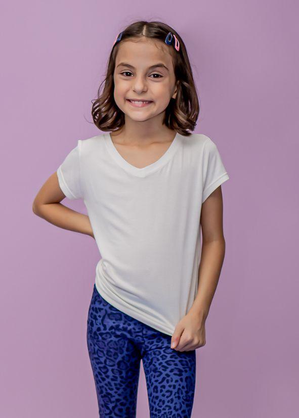 T-shirt Infantil Branca Comfy