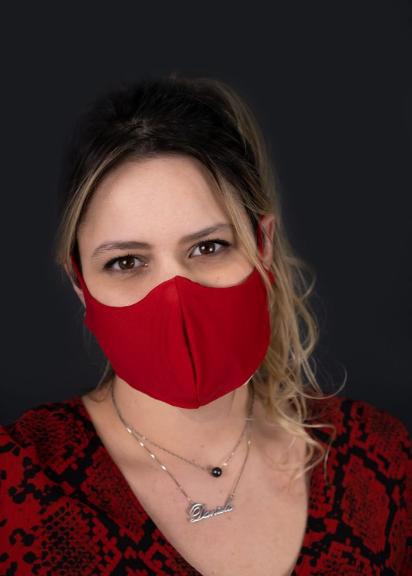 Máscara Feminina Vermelha