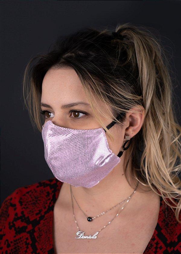 Máscara Feminina Rosê Brilhante
