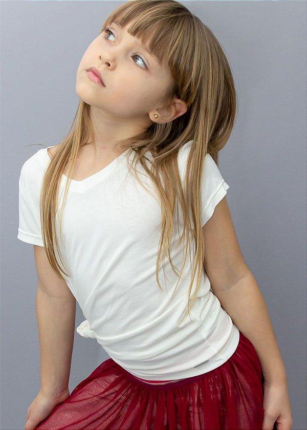 T-shirt Em Visco Infantil Off White