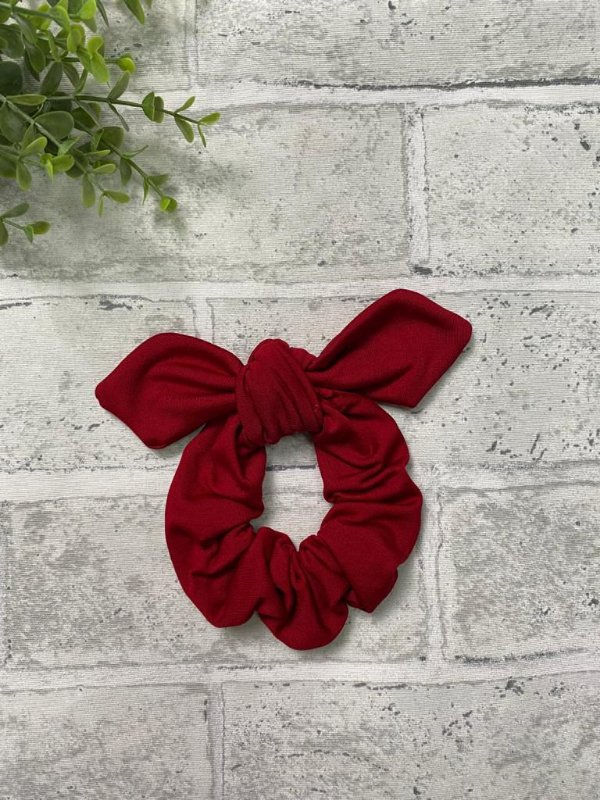 Scrunchie Vermelho Fleece