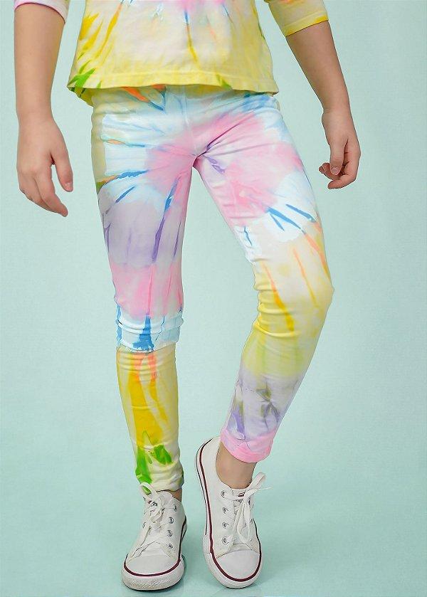 Legging Infantil Tie Dye Neon