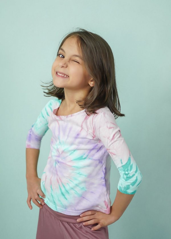 T-shirt Infantil Tie Dye Candy