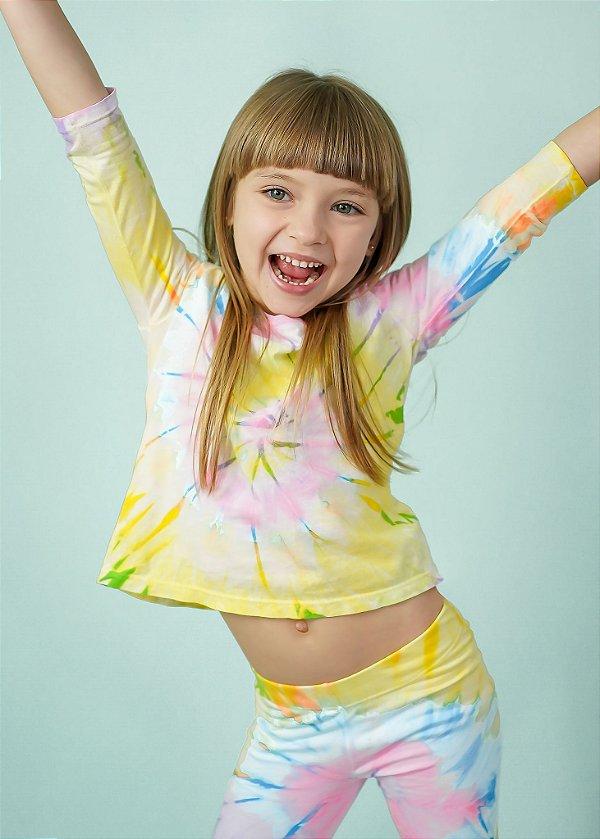 T-shirt Infantil Tie Dye Neon