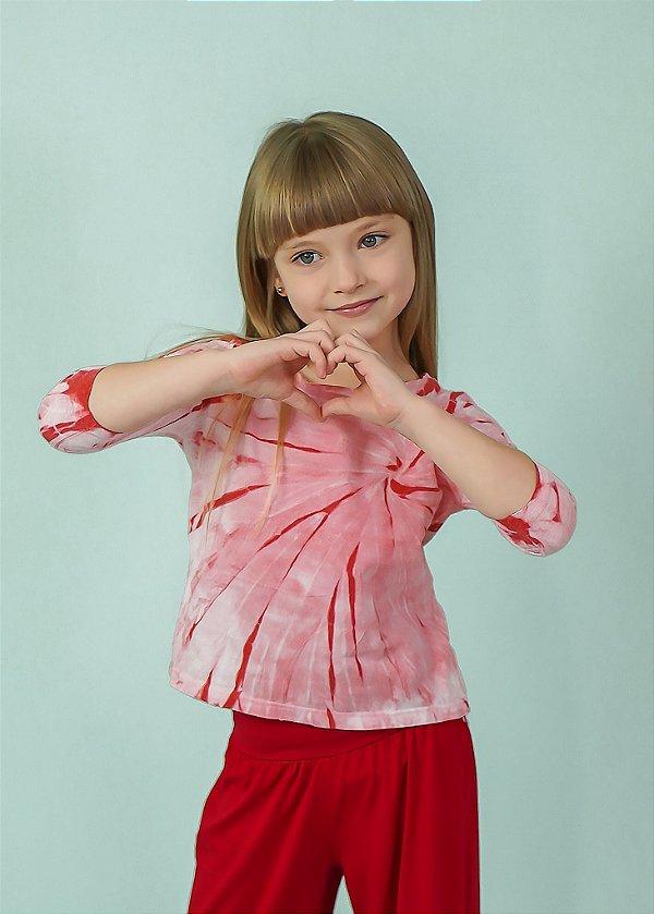 T-shirt Infantil Tie Dye Rose