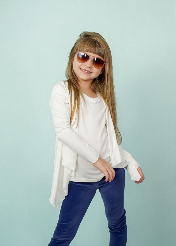 Easy kit Infantil Cardigan + T-Shirt Off