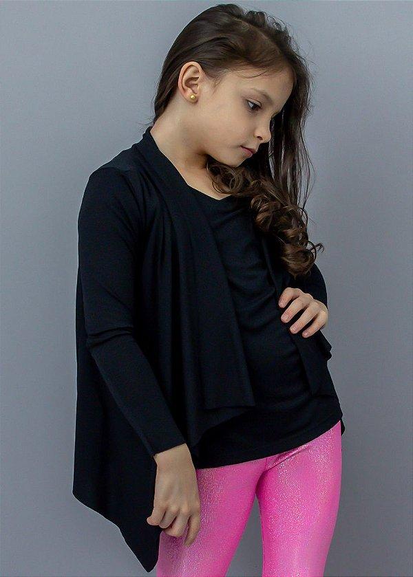 Easy kit Infantil Cardigan + T-Shirt Preto