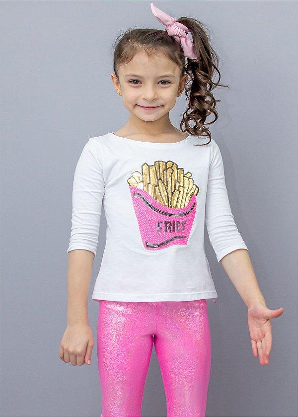 Manga 3/4 Infantil French Fries
