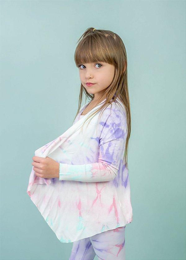 Cardigan Tie Dye Candy em Visco Infantil