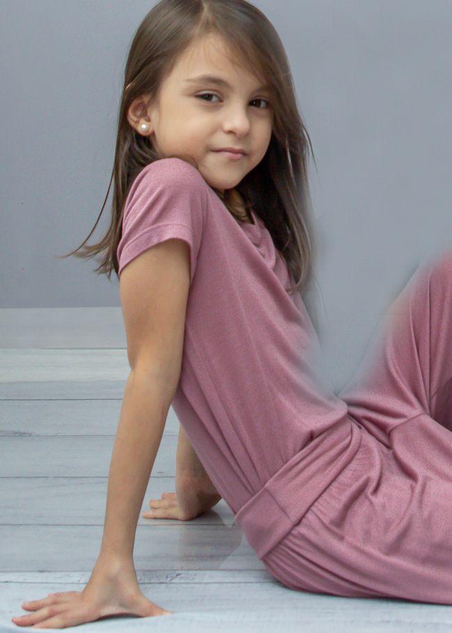 T-shirt Em Visco Infantil Rosê Naomi