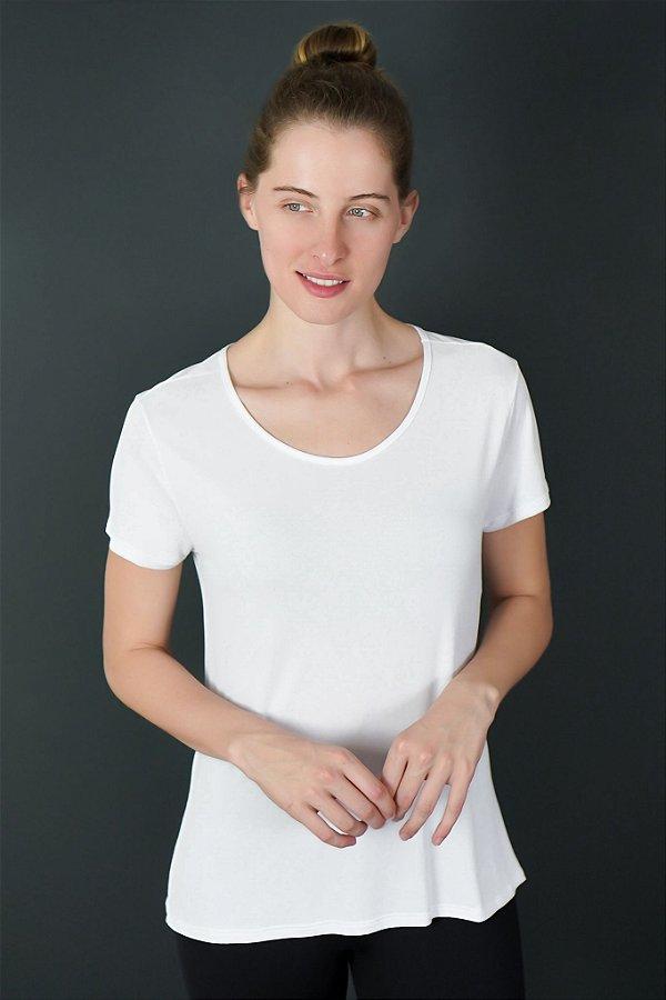 T-shirt Adulto Crepe Branca Manga Curta